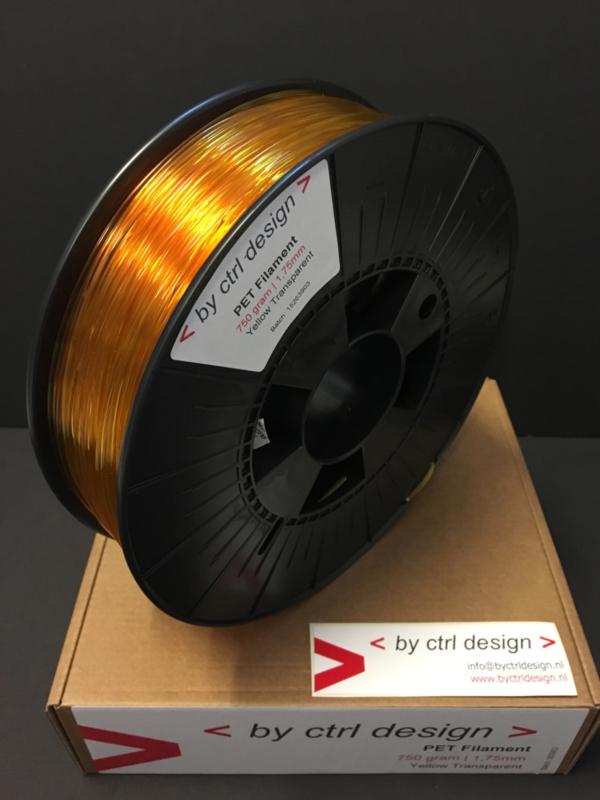 PET-G filament Yellow Transparant  750 gram 1,75 mm / 2,85 mm (3mm)