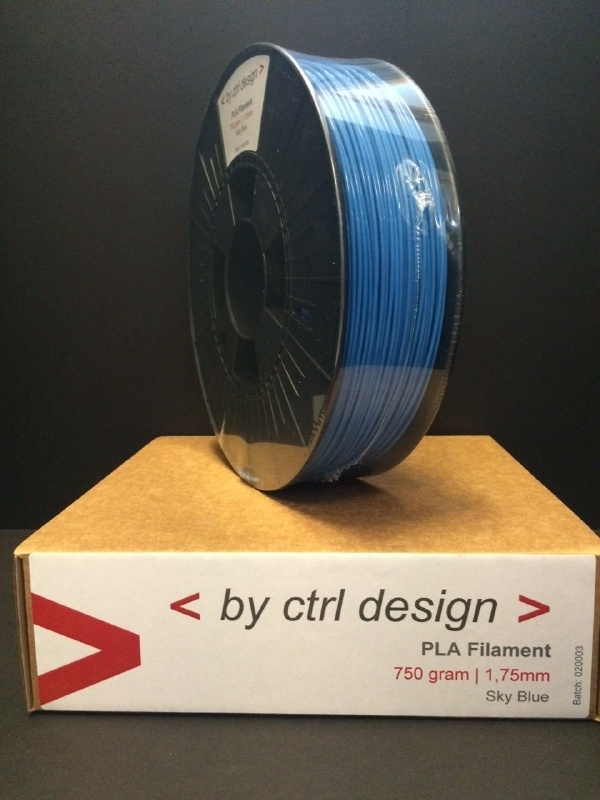 PLA Sky Bleu 750 gram 1,75 mm / 2,85 mm (3mm)