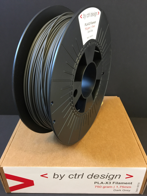Dark Grey PLA-X3 Filament  750 gram 1,75mm