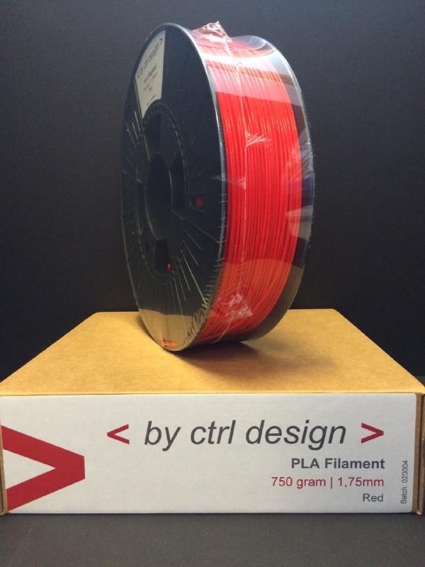 PLA Red 750 gram 1,75 mm / 2,85mm (3mm)