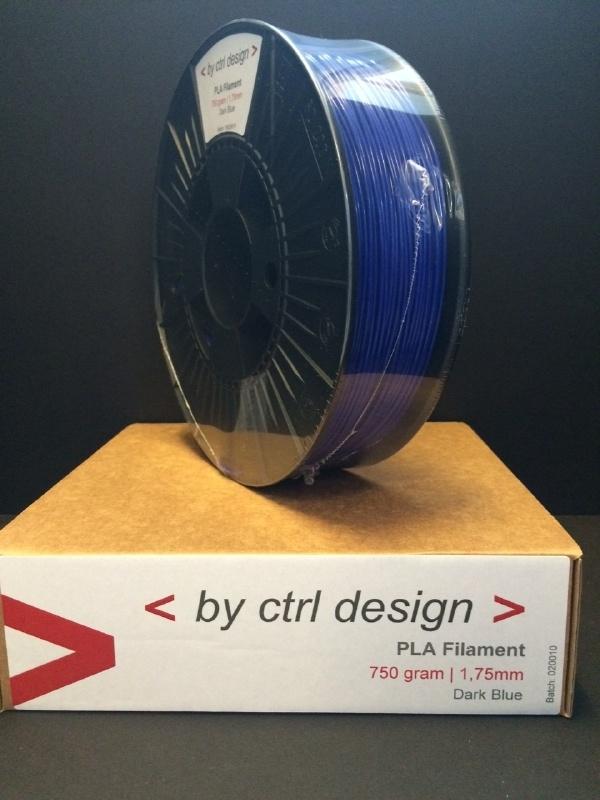 PLA Dark Bleu 750 gram 1,75 mm / 2,85 mm (3mm)