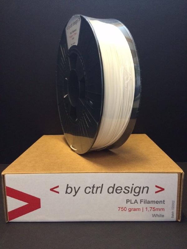 PLA White 750 gram 1,75 mm 2,85 mm (3mm)