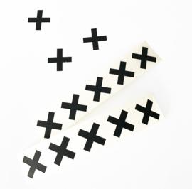 Stickers zwart mini Cross (10 stuks)