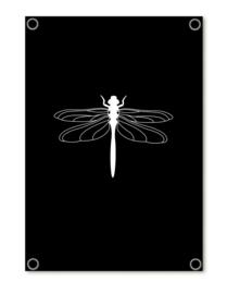Tuinposter 'libelle' (zwart)