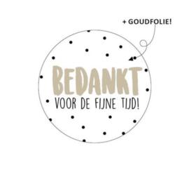 Sticker 'bedankt voor de fijne tijd' (10 stuks)