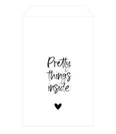 Zakje 'pretty things inside' (5 stuks)