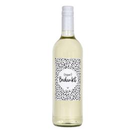 Fles etiket (diverse teksten en printen)