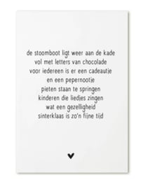 Kaart met Sinterklaas gedicht
