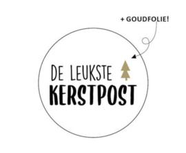 Sticker 'de leukste kerstpost' (10 stuks)