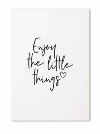 Kaart 'Enjoy the little things'