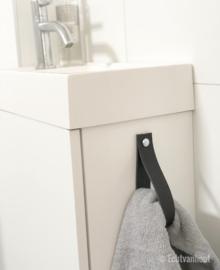 Handdoek hanger van leer