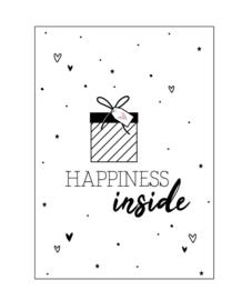 Kaart  'happines inside'