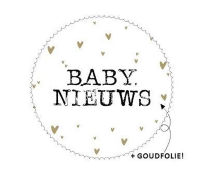 Sticker 'baby nieuws' (10 stuks)