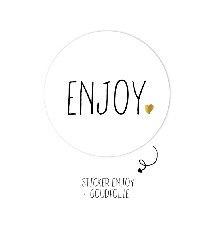 Stickers 'Enjoy' (5 stuks)