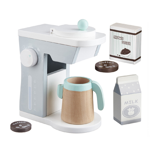 Kids concept - Houten koffiemachine (grijs)