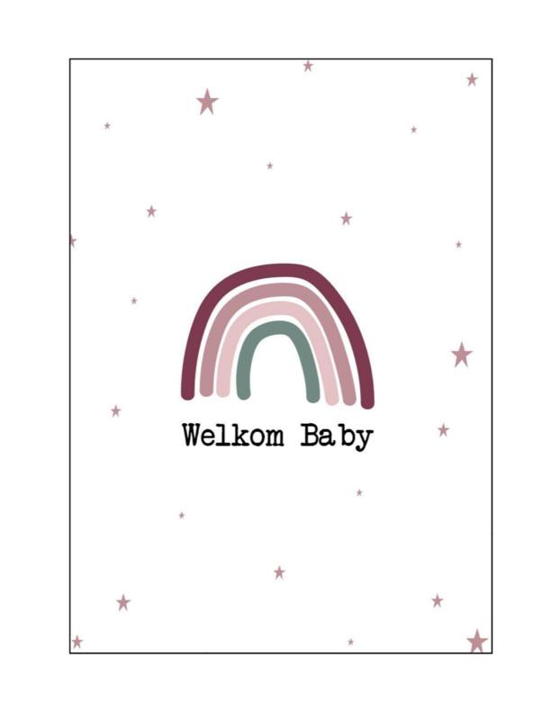 Kaart  'welkom baby'