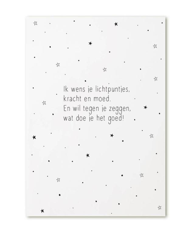 Kaart 'Ik wens je lichtpuntjes'