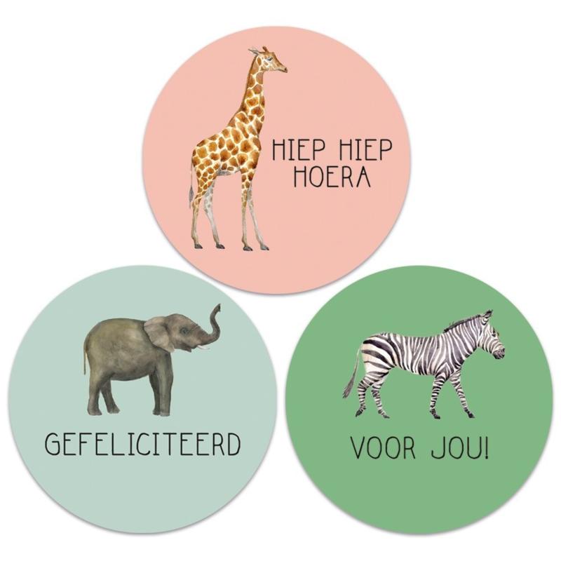 Stickers met wilde dieren (9 stuks)