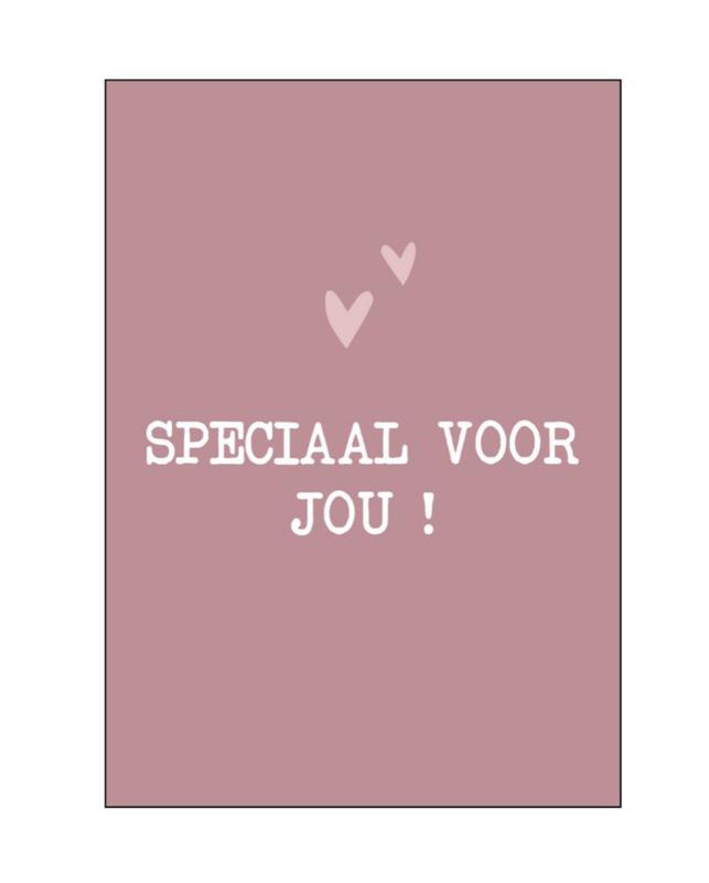 Kaart  'speciaal voor jou'