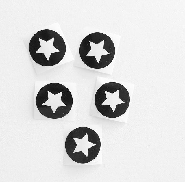 Stickers Big Star zwart/wit (5 stuks)