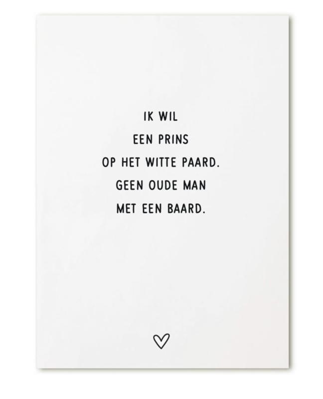 Kaart - 'ik wil een prins..'