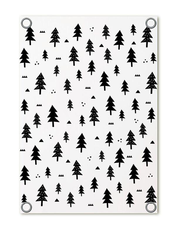 Tuinposter met boompjes patroon