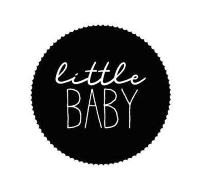 Sticker 'little baby' (10 stuks)