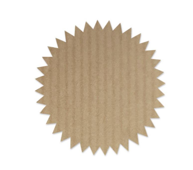 Stickers kraft Deco Star (5 stuks)