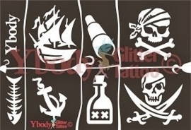 vel met piraat tattoo malletjes