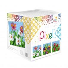 mosaic pixel bloemen