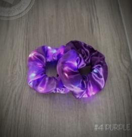 Purple scrunchie met LED lampjes