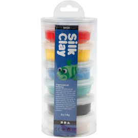 Silk Clay 6x14gr. basis kleuren