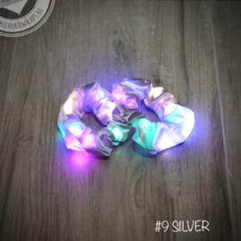 Zileren scrunchie met LED lampjes