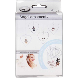cadeauset 8 hart ornamentjes met engeltjes