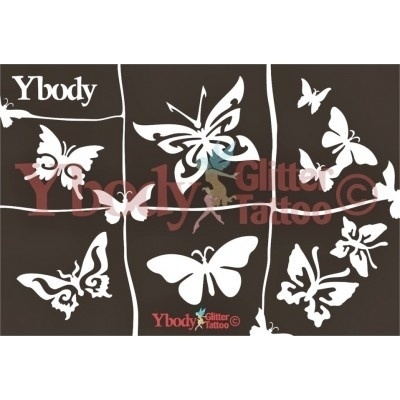 vel met vlinder tattoo malletjes