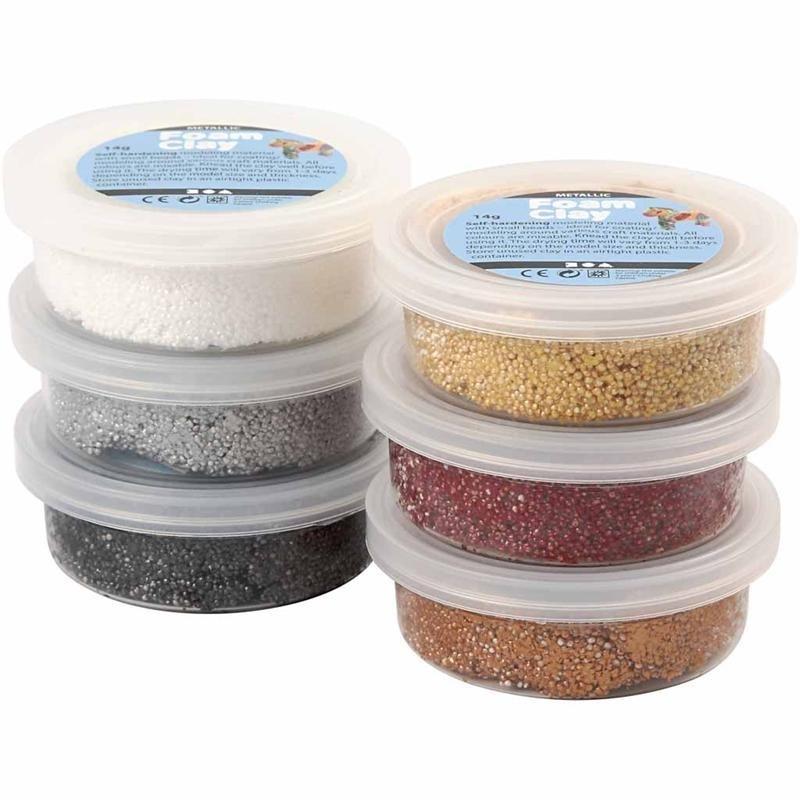 6x14 gram metallic metaalkleuren