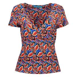 Wrap t-shirt kobalt 385153