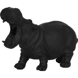 Nijlpaard Tafellamp Zwart