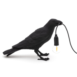 Seletti Bird Lamp waiting zwart