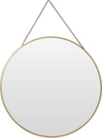 Ronde spiegel aan ketting