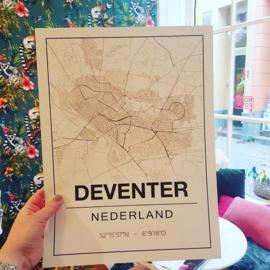 Poster plattegrond Deventer A4