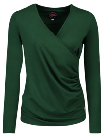 Tante Betsy Loose Cross Top Green