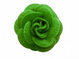 Vilten roos groen