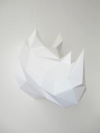 Papieren Neushoorn DIY wit
