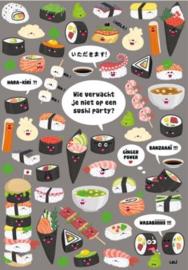 Lali Zoekkaart | Wie verwacht je niet op een sushi party?