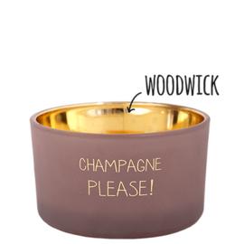 My flame Geurkaarsje: Champagne Please!