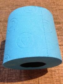 Gekleurd wc-papier blauw