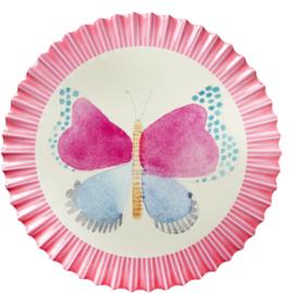 Pannenzetter roze vlinder