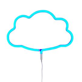 Lamp wolk blauw neon look