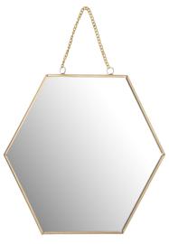 Gouden spiegel honingraat